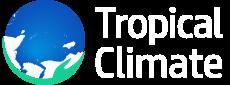 Tropical climate logo white